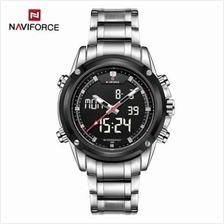 NAVIFORCE NF9050 LUXURY DUAL MOVT MEN QUARZ WATCHES ANALOG DIGITAL LED SPORT M