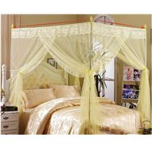 Lace Mosquito Net Bed Canopy Beige 6 ft