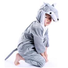 Promotio - Wolf Cosplay Kids Animal Outfit Costume Size L