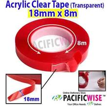 Double Sided Acrylic Clear Tape (Transparent) (18mm x 8m)