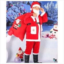 Merry Christmas!! Santa Claus Costume Adult (9 Pcs Set)