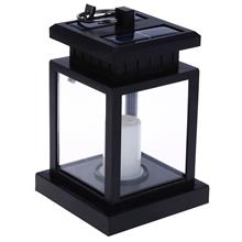 2PCS SOLAR POWERED LED OUTDOOR CANDLE LANTERN HANG LAMP