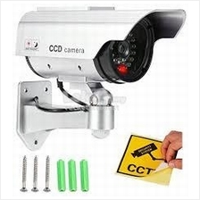 Dummy Fake Imitation CCTV Camera With Flashing LED Light Wire