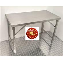 Stainless Steel Folding Table 1200 x 600 x800