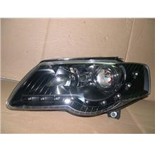 VW PASSAT '06-08 Projector Head Lamp DRL R8 Look [Black Housing]