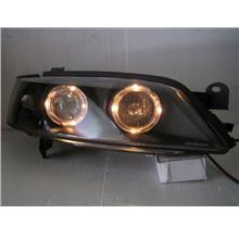 OPEL Vectra B '96-99 Projector Head Lamp LED Ring [Black Housing]