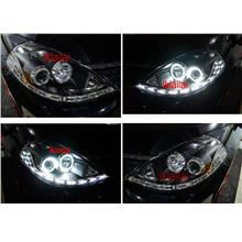 NISSAN LATIO / Tiida LED Ring Projector Head Lamp LED DRL R8