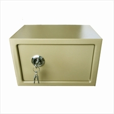 Safe Box with Key Lock 20cm (Gold)