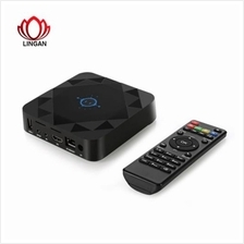 LINGAN C88 TV BOX WITH IR REMOTE CONTROLLER 2.4 / 5.8GHZ WIFI (BLACK)