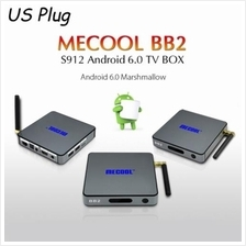 MECOOL BB2 ANDROID TV BOX AMLOGIC S912 OCTA CORE 4K X 2K H.265 DECODIN