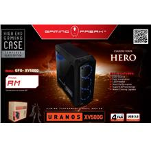 Gaming Freak Uranos XV500G Mid Tower Temple Glass Case BLK