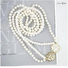 04550 Pearl Necklace Classic Rose Highlights Temperament Double