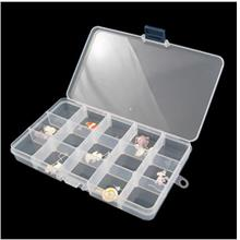 04529 15 Grid Storage Box False Eyelash / Nail Chip Storage Box