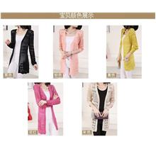 00435 Elegant Long Sleeve Knit Cardigan