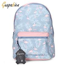 GUAPABIEN PREPPY STYLE PRINT TRAVEL BACKPACK GIRLS SCHOOL BAG (AZURE)