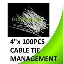 4'x 100pcs 100mm cable Tie Ties Computer Wire Cabling Tidy Management