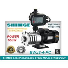 Shimge BWJ 2-4-PC 0.75HP Stainless Steel Horizontal Multi-Stage Pump