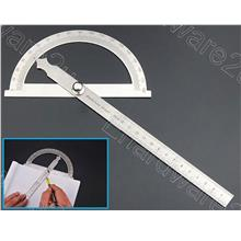 Stainless Steel Protractor Angle Gauge 15cm (PS150H)