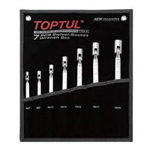 TOPTUL GPAQ0701 Double End Swivel-Socket Wrench Set - POUCH BAG - BLAC