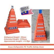 MY Professional Collapsible Safety Active Square Cone