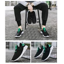 New Stylish Mens sports casual shoes (Black,Black+Green)