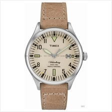 TIMEX TW2P84500 (W) The Waterbury Pair Watch Date leather strap tan