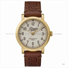 TIMEX TW2P96700 (M) Originals University leather strap cream brown