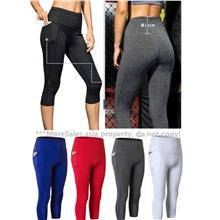 020f92e1e216e9 Lady Zumba Sports Gym Yoga Aerobic Three-Quarter Pants with phone pock