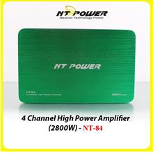 NT Power 4 Channel High Power Amplifier - 2800W - NT-84