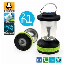 GOLDHORSE BL12 2 IN 1 ULTRA PORTABLE CAMPING WIRELESS BLUETOOTH 3.0 SPEAKER +