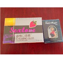 Combo Chewing Gum (Sxlove 50pcs + Tissue Magic)