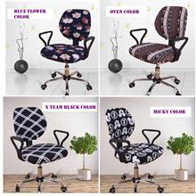 100% Polyester Elastic Office Computer Chair Seat Back Cover Slipcover