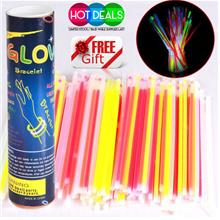 50PCS GLOW LIGHT STICKS PARTY CONCERT GLOWSTICK BRACELETS IN THE DARK