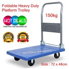 150kg Heavy Duty Foldable Platform Hand Truck Trolley