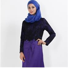 ELEGANT JUBAH (PURPLE/DARK GREEN/KHAKI, SIZE M)