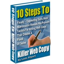 1 pc ebook - 10 Steps To Killer Web Copy - Resell Right Included