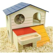 Pet Supplies Hamster Nest Box Double House Hut Small Pet Hamster Cage