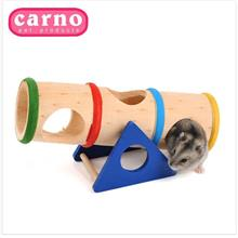 Hamster Play Tube Toys Petshop Small Animal Supplies Rainbow Wooden