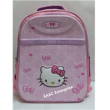 3D Hello Kitty Cartoon Kids Kindergarten Primary School Bag Backpack