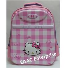 3D Hello Kitty Block Kids Kindergarten Primary School Bag Backpack