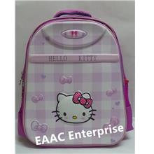 3D Hello Kitty Block Kids Kindergarten Primary School Bag Backpack PUR