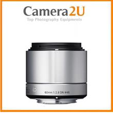 NEW Sigma 60mm f/2.8 DN Art Lens for Sony E-mount Cameras Silver