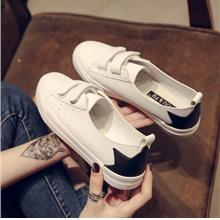 Women Small Shoes Velcro Flat Students Sneakers Shallow Mouth Plus Siz