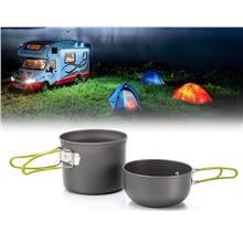 DS-101 Camping Hiking Foldable Cookware Set Pot Pan