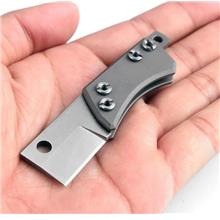 Mini D2 steel folding knife EDC camping survival pocket knife key chai