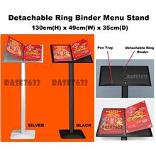 Cafe Restaurant Office Menu Display Stand Ring Binder Anti-Slip Base