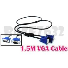 Clearance!! 1.5M VGA SVGA HDB15 Male to HDB15 Male Extension Cable