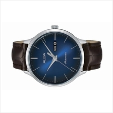 Alba Men Sign A Automatic Day Date Leather Watch Y676-X023BLSL