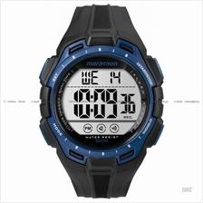 TIMEX TW5K94700 (M) Marathon Digital Watch resin strap black blue e983077e84