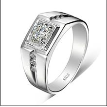Domineering Wide Simulation Diamond Male Ring #23
